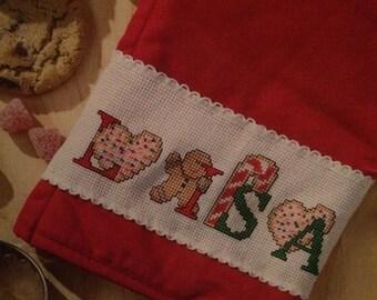Christmas Festive Cookies ABC Cross Stitch Pattern