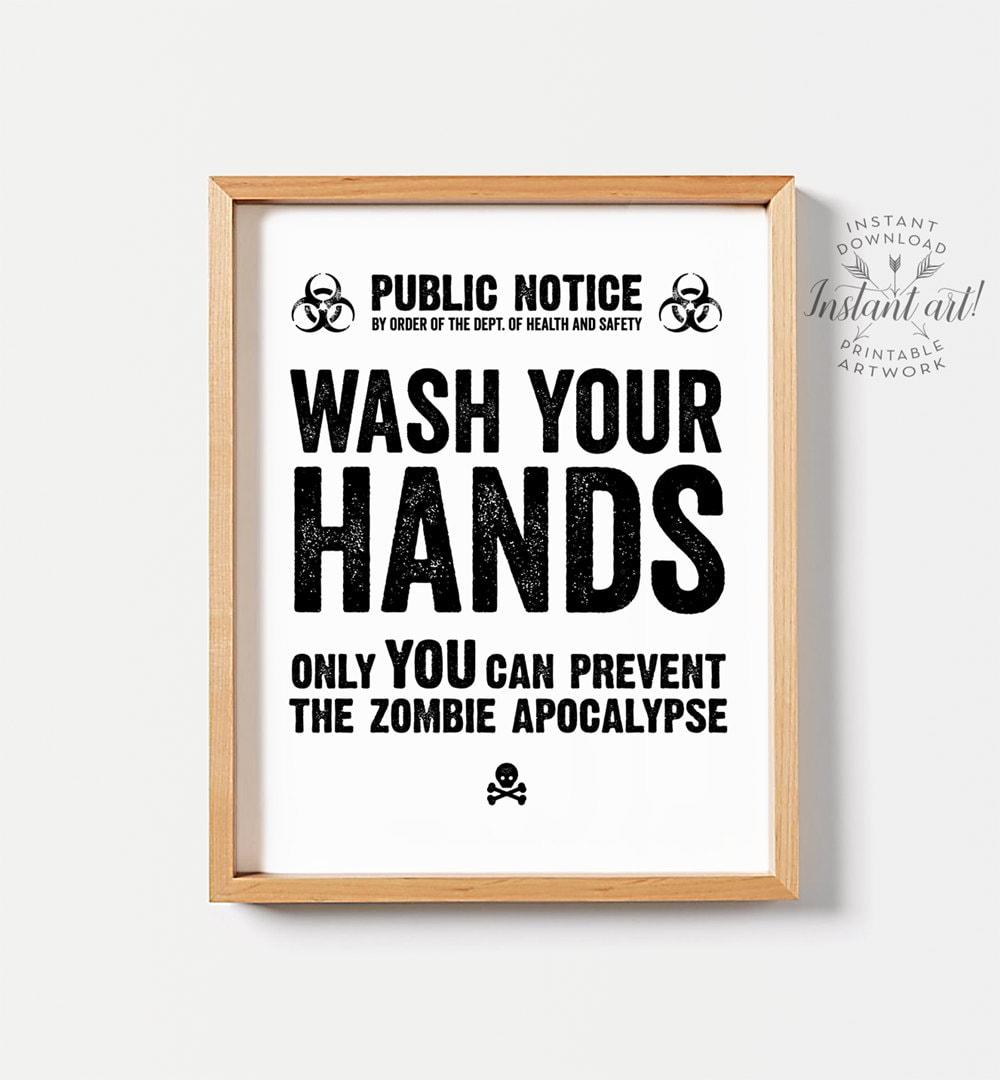 Bathroom Signs Wash Hands funny bathroom art printable art funny bathroom decor wash