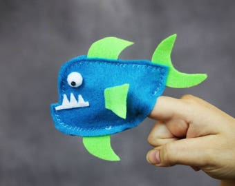 Fish Finger Puppet - Children's Toy - Educational toy - Puppet