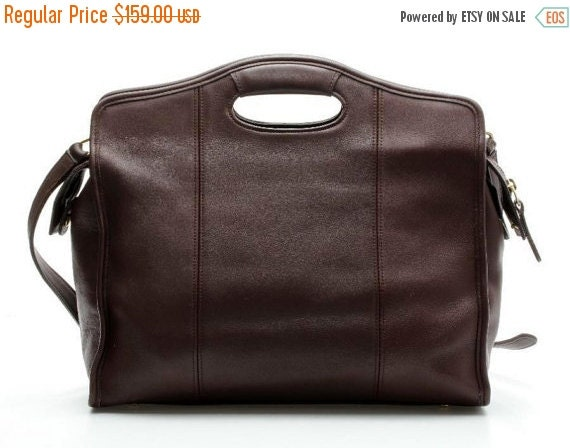 Football Days Sale Coach Zip Top Shopper Tote Briefcase Attache In Mahogany Leather Style No. 9995 - U.S.A. Made - Vgc to Euc