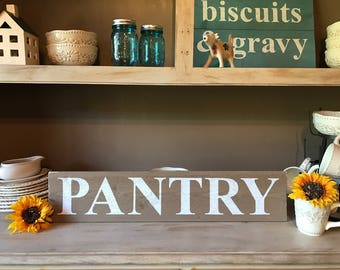 "Rustic sign - ""Pantry"""