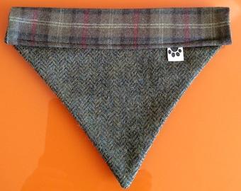 Dog Bandana Tweed Herringbone Fabric