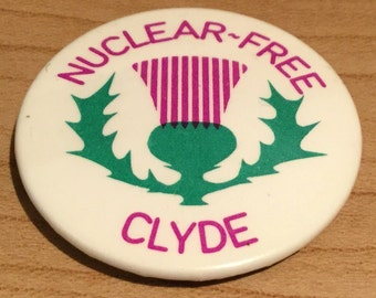 Scottish Glasgow River Clyde Anti Nuclear Badge