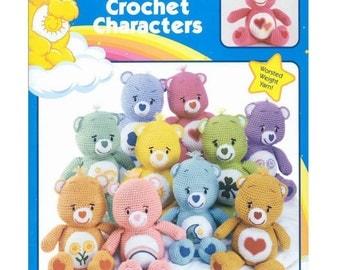 Care bears vintage crochet pattern - amigurumi care bears