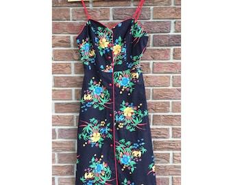 1970s Tropicana Dress (S)