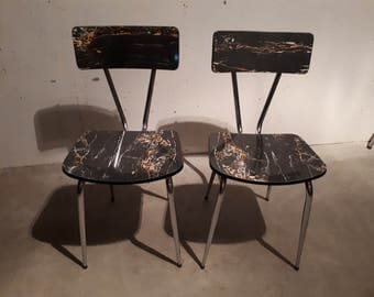 60 Black formica Chair
