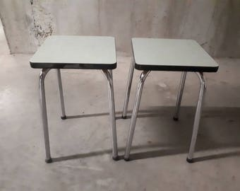 Pair of stools in formica