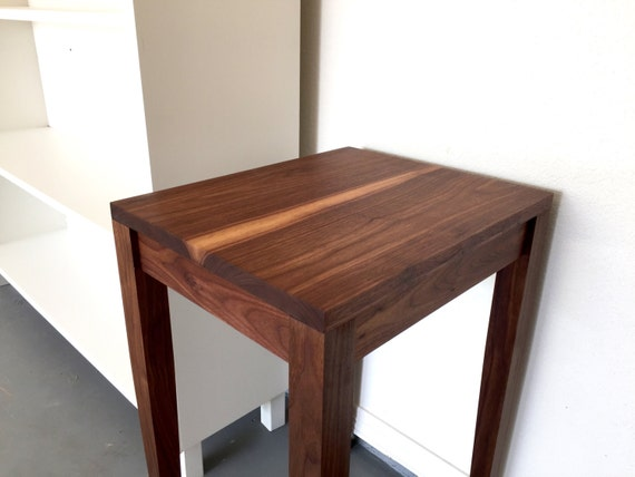 Walnut side table tapered leg by fickleandfellow