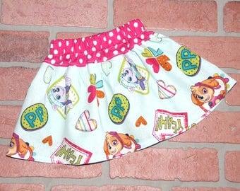 Paw Patrol Girls Skirt - Handmade Girls Skirt Cartoon Skirt