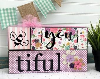 Bee {You} tiful - DIY block kit