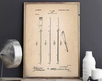 Boat Oar Patent Print, Sailboat Oars, Crew Poster,Crew Patent, Nautical Poster, Nautical Decor, Patent Print - DA0758