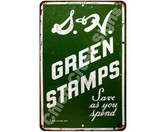 1956 S&H Green Stamps Vintage Look Reproduction 8x12 Metal Sign 8121387