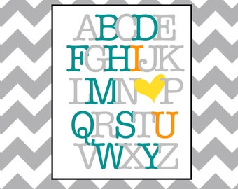 Nursery Alphabet 8x10