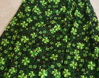 St Patty Day Dress, St Patricks Day Dress, St Patricks Day Outfit, St Patty Day Outfit, Shamrock Dress, Four Leaf Clover, Black Green Dress