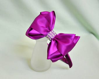 hairband,hair bows,girls hairband,unique girls hair accessories,ribbon hairband,wedding hairband,purple hairband,hairbow,unique gift idea