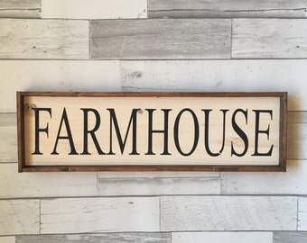 Farm House Sign, Rustic Sign, Wooden Sign, Farmhouse Decor
