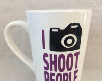 Photographer coffee mug, I shoot people mug