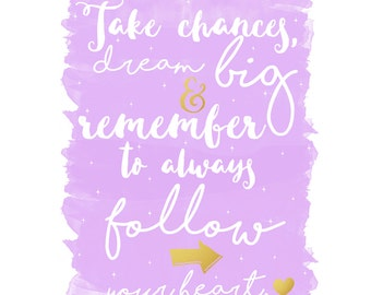 Take Chances A4 Print Inspirational Quote