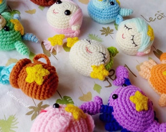12 Zodiac Signs,amigurumi zodiac,mini crochet doll,kawaii crochet,keychain,bag charm,fetish,horoscope