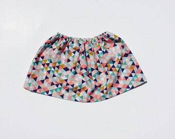 Desert  Canyon Colors infant skirt, Navy blue, teal, coral skirt, Triangle skirt for infants, Arrow skirt for infants, Feather skirt for in
