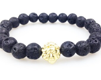 Genuine Lava Lion Bracelet