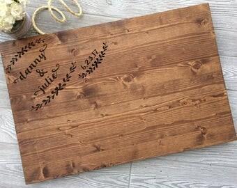 Rustic Wedding Guest Book Alternative, Wood Guest Book, Wood Wedding Sign,  Rustic Guest Book Alternative