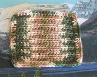 Hand crochet cotton dish cloth 6 by 6 CDC 068