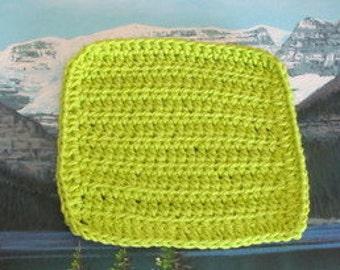Hand crochet cotton dish cloth 6.5 by 6.5 CDC 071