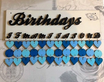 Hand Painted Birthday/Special Dates reminder board