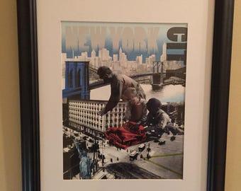 New York Digital Print / New York Art / Contemporary Art / Collage Print / Picture of New York
