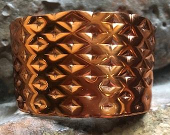 Bright Textured Copper Bracelet