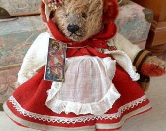 Borderbear van Jeanine Blok OOAK artist bear Borderbears