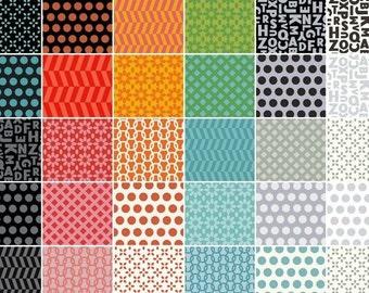 "Uppercase Layer Cakes Quilt Squares ~ 42-10"" x 10"" Squares, Quilt Shop Quality Cotton, Windham Fabrics"