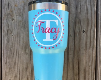 30oz Stainless Steel Vacuum Sealed Double Wall Ozark Trail Tumbler, factory powder coated, black, birthday, gift