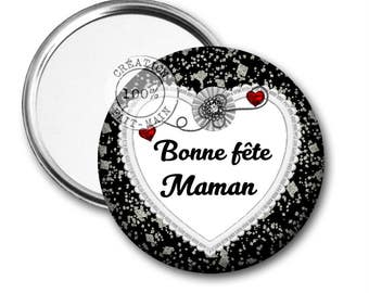 50 mm Pocket mirror happy mother's day
