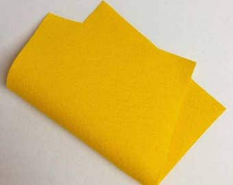 "8"" x 12"" Golden Rod Merino Wool Felt"