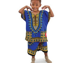 Child Dashiki Shirt & Shorts
