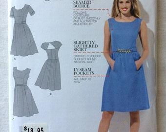 Simplicity 1652 UNCUT New Misses Size H5 6, 8, 10, 12, 14 Dress Pattern