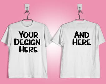 Customized Double Sided T-Shirts, Personalized T-Shirt, Custom Shirts, Personalized Shirts, Birthday Shirt, Onesie, Easter, Valentine's Day,