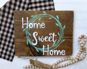 Home Sweet Home Sign, Rustic Home Decor, Home Decor, Housewarming Gift, Patio Sign, Porch Sign, Mantel Sign, Farmhouse Home Sign