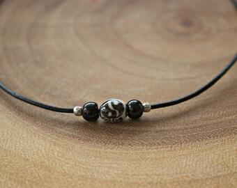 Men's Yin Yang Cord Necklace / Men's Cord Necklace