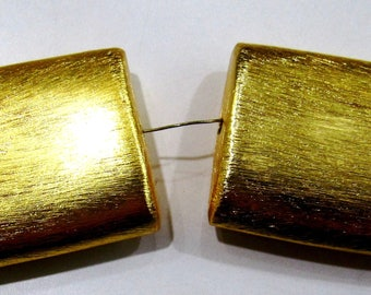 Rectangle Shape Metal Beads , 24 kt Gold Plated Beads , Handmade Spacer Beads Size 26x32x10mm , Sold per Piece in Wholesale Price.