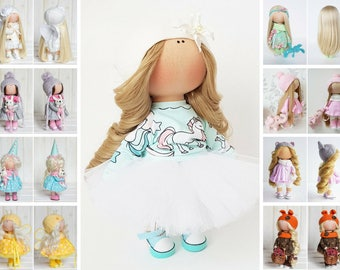 Nursery doll Fabric doll Puppen Interior doll Textile doll Tilda doll Handmade doll Bonita doll White doll Cloth doll Baby doll by Tanya E