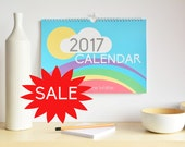 2017 Calendar, Wall Calendar 2017, 2017 Wall planner, New Year Gift, 12 month calendar, Teacher Gift, Hanging Calendar for the office, Gift