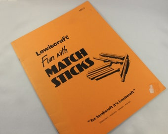 Lewiscraft Fun With Match Sticks Vintage Book