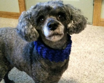 Handmade Knit Dog Scarf/ Knit Dog Infinity Scarf/ Handmade Dog Neckware/ Knit Dog Neckware/ Handmade Dog Accessories/ Pet Accessories