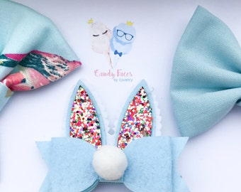 Easter & Spring Bow Sets- Bunny Ears- Multiple Choices