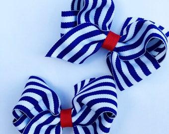 Fourth of July Pigtail Bows / Memorial Day Bows / Summer Bows / Patriotic Bows
