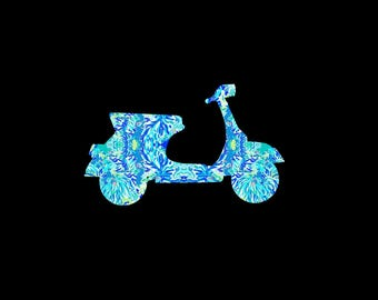 Scooter Preppy Print Decal created in your favorite summer preppy print in the size of your choice!