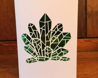Crystal Papercut Card